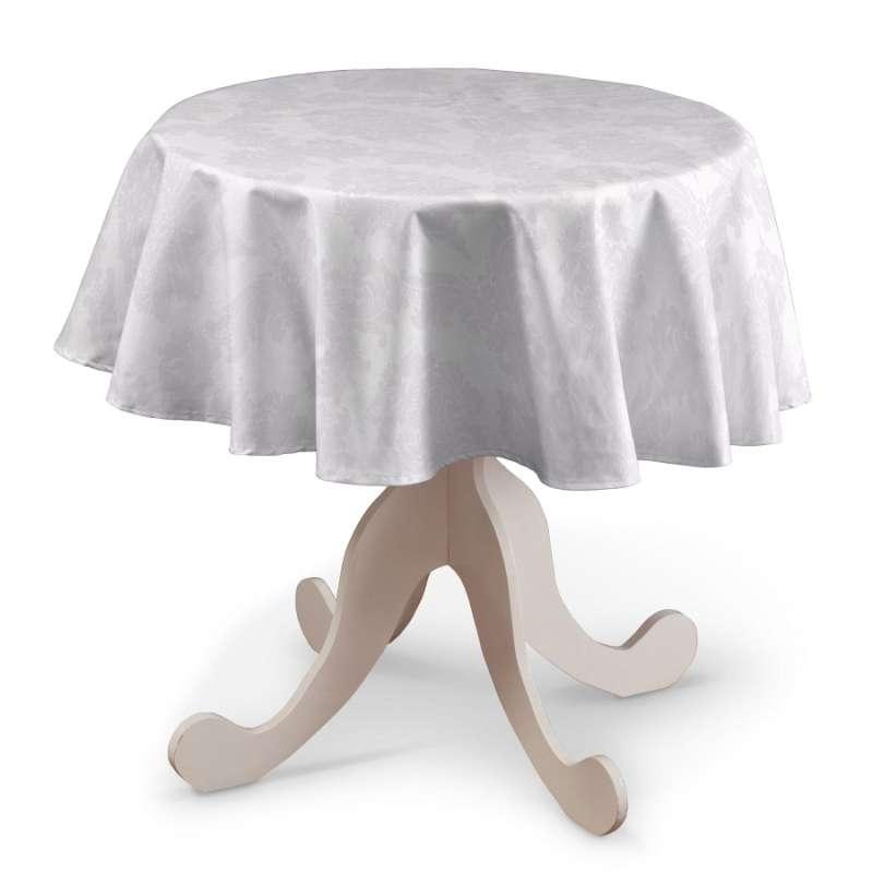 Runde Tischdecke von der Kollektion Damasco, Stoff: 613-00
