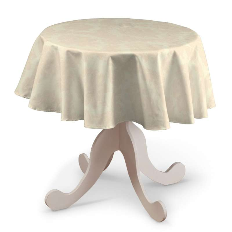 Round tablecloth in collection Damasco, fabric: 613-01