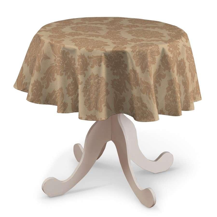 Runde Tischdecke Ø 135 cm von der Kollektion Damasco, Stoff: 613-04
