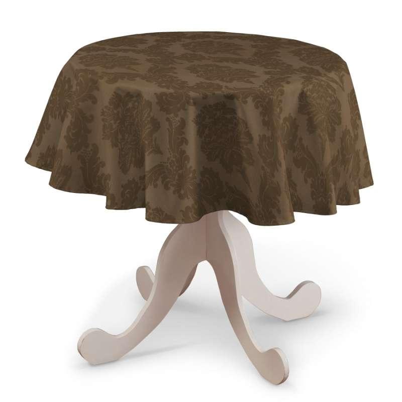 Rund bordsduk i kollektionen Damasco, Tyg: 613-88