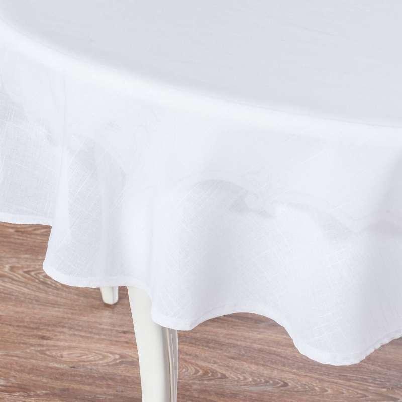Rund bordduk fra kolleksjonen Romantikk, Stoffets bredde: 128-77