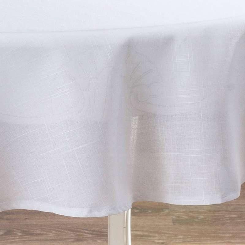 Runde Tischdecke von der Kollektion Romantica, Stoff: 128-77