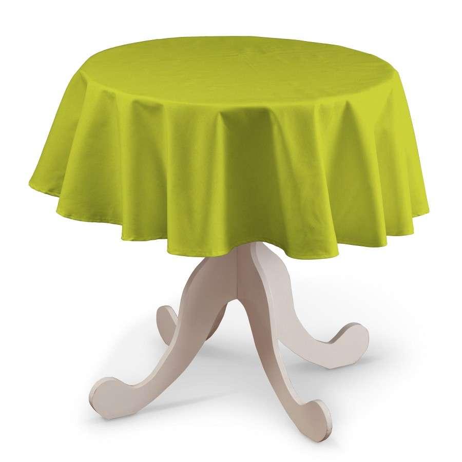 Grüne Tischdecke für runde Tische