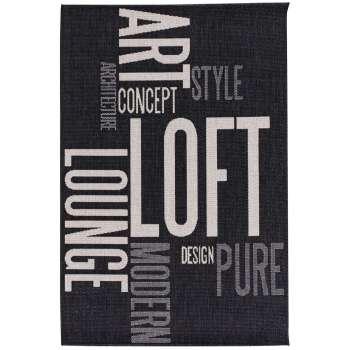 Dywan Modern Loft black/ grey 120x170cm