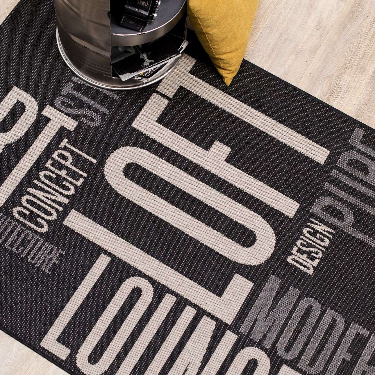 Teppich Modern Loft black/ grey 120x170cm