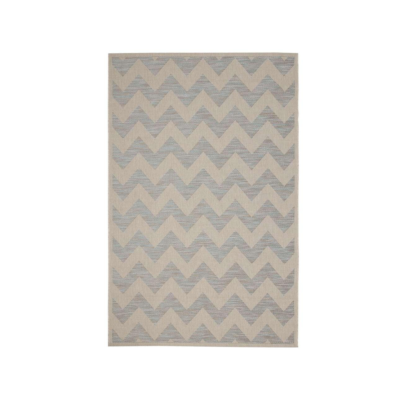 Koberec  Modern Chevron wool/ ice blue 160x230 cm
