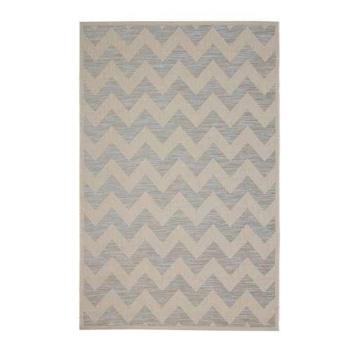 Dywan Modern Chevron wool/ ice blue 160x230 cm