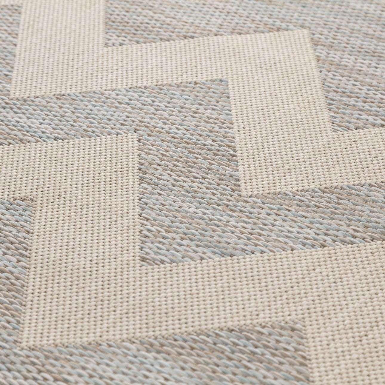 Teppich Modern Chevron wool/ ice blue 160x230 cm