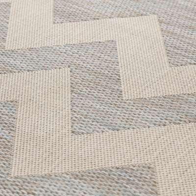 Modern Chevron Wool Beige/Ice Blue Area Rug 160x230 cm Rugs and Runners - Dekoria.co.uk