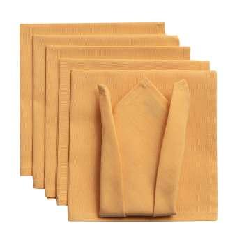 Komplet serwetek 6szt. 42x42 jupiter żółty