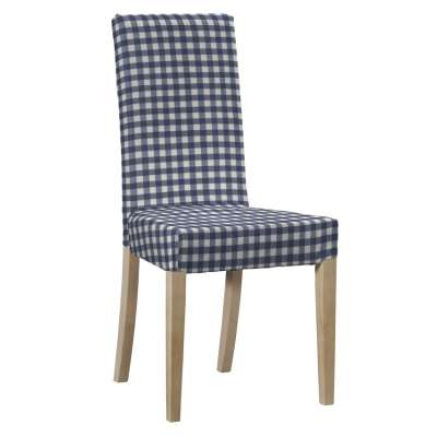 Harry chair cover 136-01 navy blue and white check (1.5cm x 1.5cm) Collection Quadro
