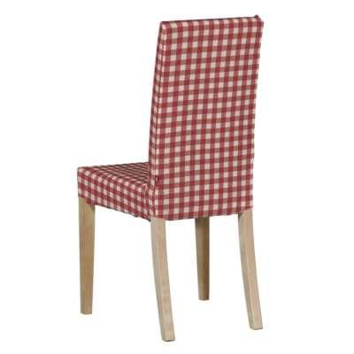 Sukienka na krzesło Harry krótka 136-16 czerwono biała kratka (1,5x1,5cm) Kolekcja Quadro