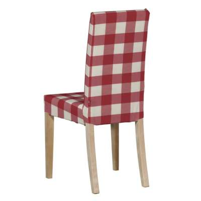 Harry chair cover 136-18 red and white check (5.5cm x 5.5cm) Collection Quadro
