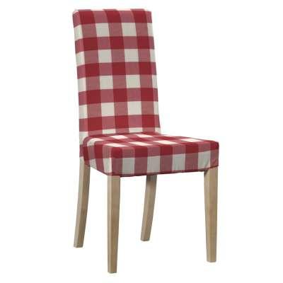 Sukienka na krzesło Harry krótka 136-18 czerwono biała krata (5,5x5,5cm) Kolekcja Quadro