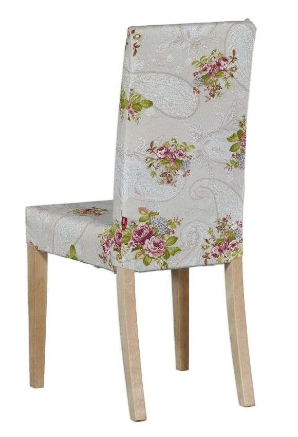 Harry stol - kort klädsel Överdrag till Harry stol - kort klädsel i kollektionen Flowers, Tyg: 311-15