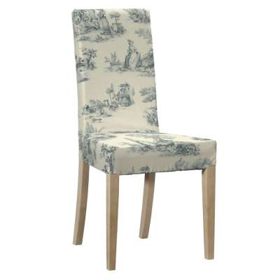 Harry chair cover 132-66 blue characters, ivory background Collection Avinon
