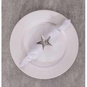 Obrączka na serwetkę Star  6,5x6,5x4cm