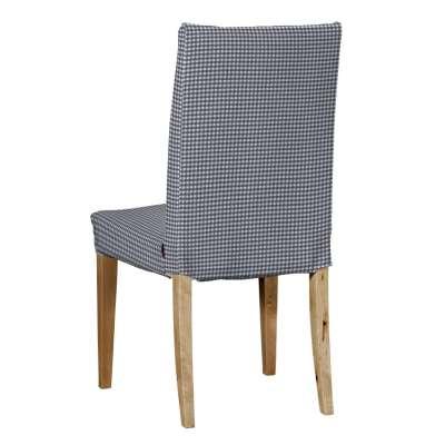 Sukienka na krzesło Henriksdal krótka 136-00 granatowo biała krateczka (0,5x0,5cm) Kolekcja Quadro