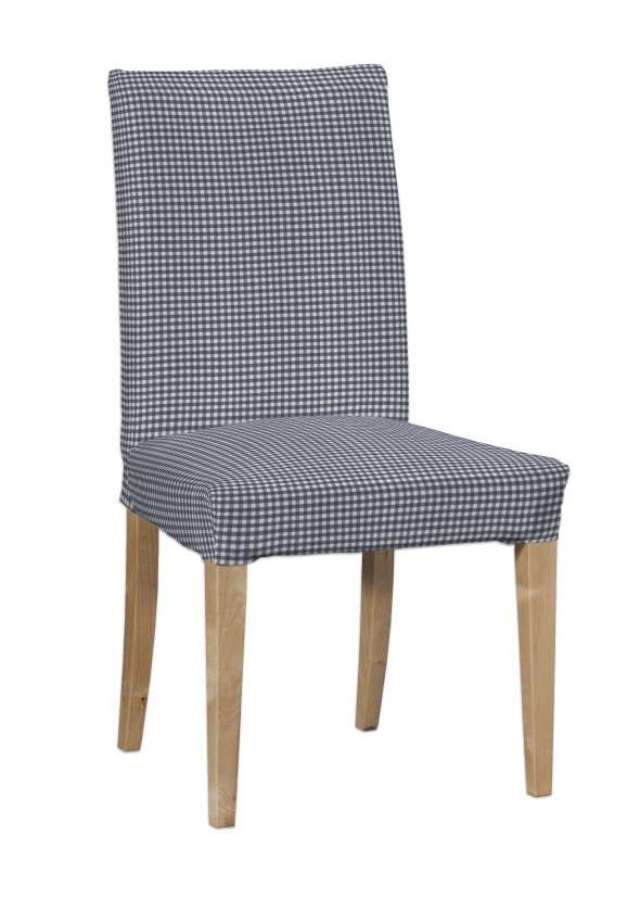 Návlek na stoličku Henriksdal (krátky) V kolekcii Quadro, tkanina: 136-00