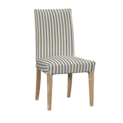 Návlek na stoličku Henriksdal (krátky) 136-12 sivo-biele prúžky Kolekcia Quadro