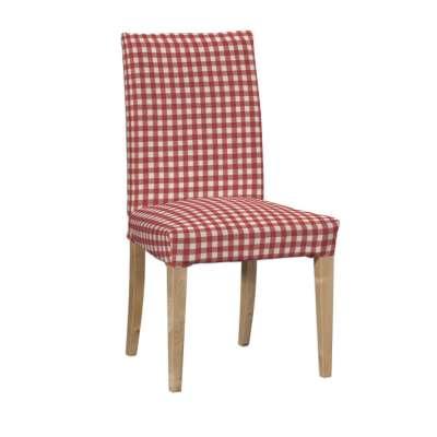 Návlek na stoličku Henriksdal (krátky) 136-16 červeno-biele káro Kolekcia Quadro