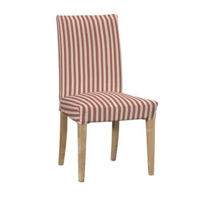 Návlek na stoličku Henriksdal (krátky) 136-17 červeno-biele prúžky Kolekcia Quadro