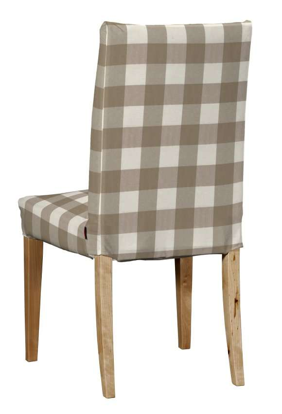 Návlek na stoličku Henriksdal (krátky) V kolekcii Quadro, tkanina: 136-08