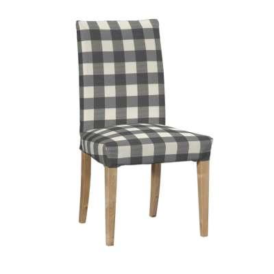 Sukienka na krzesło Henriksdal krótka 136-13 szaro biała krata (5,5x5,5cm) Kolekcja Quadro