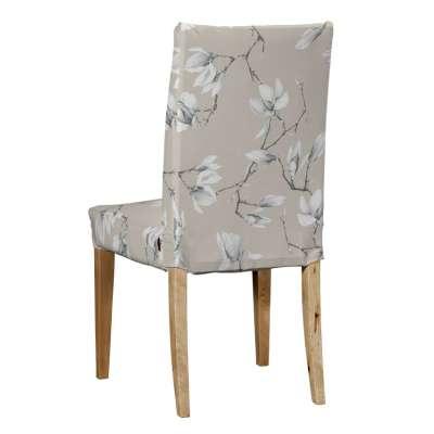 Sukienka na krzesło Henriksdal krótka 311-12 magnolie na beżowym tle Kolekcja Flowers