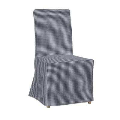 Sukienka na krzesło Henriksdal długa 136-00 granatowo biała krateczka (0,5x0,5cm) Kolekcja Quadro