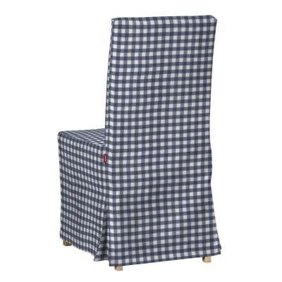 Sukienka na krzesło Henriksdal długa 136-01 granatowo biała kratka (1,5x1,5cm) Kolekcja Quadro