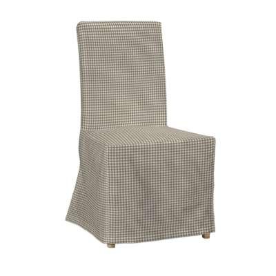 Návlek na stoličku Henriksdal (dlhý) V kolekcii Quadro, tkanina: 136-05
