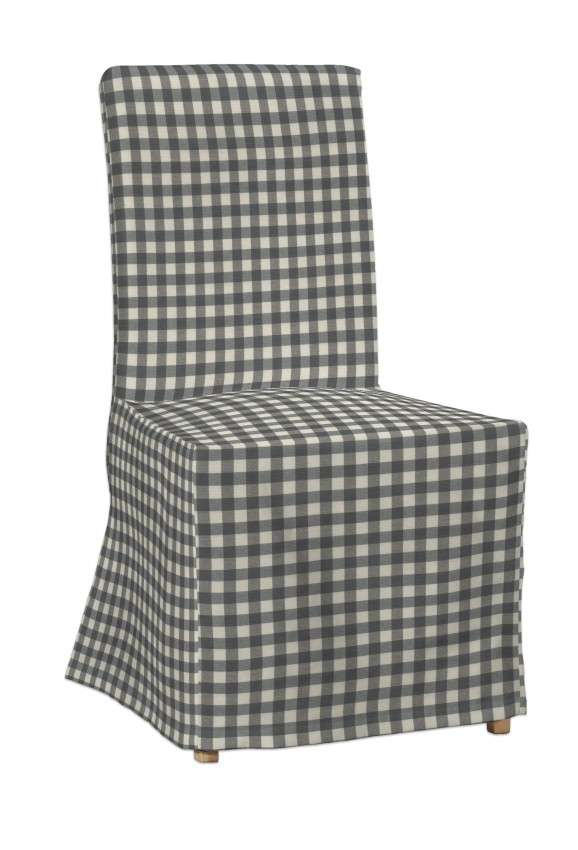 Návlek na stoličku Henriksdal (dlhý) V kolekcii Quadro, tkanina: 136-11