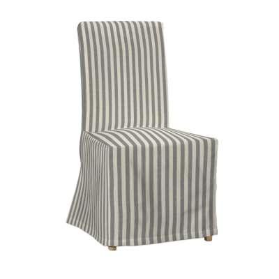 IKEA stoelhoes zonder rugband voor Henriksdal 136-12 grijs-ecru  Collectie Quadro
