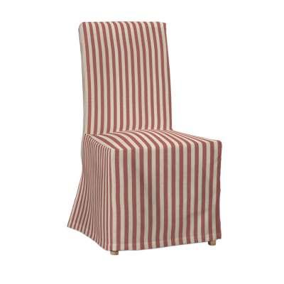 Návlek na stoličku Henriksdal (dlhý) 136-17 červeno-biele prúžky Kolekcia Quadro