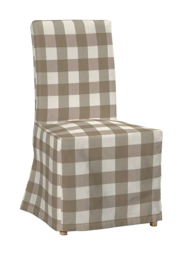 Potah na židli IKEA  Henriksdal, dlouhý v kolekci Quadro, látka: 136-08
