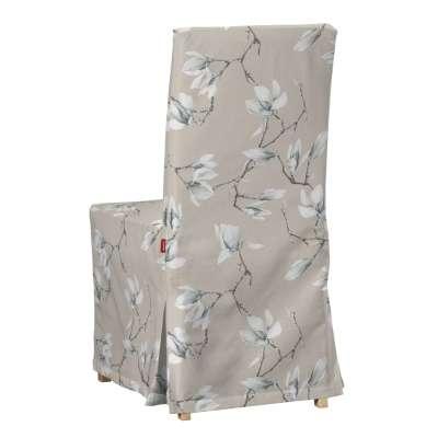 Sukienka na krzesło Henriksdal długa 311-12 magnolie na beżowym tle Kolekcja Flowers