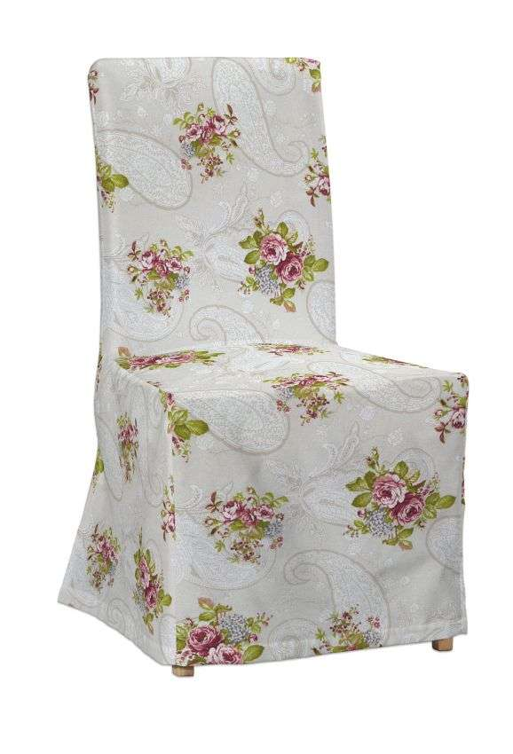 Sukienka na krzesło Henriksdal długa krzesło Henriksdal w kolekcji Flowers, tkanina: 311-15
