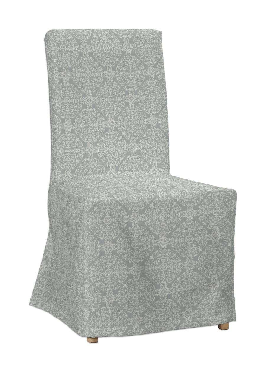 Sukienka na krzesło Henriksdal długa krzesło Henriksdal w kolekcji Flowers, tkanina: 140-38