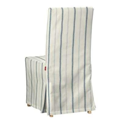 Henriksdal, lang trekk 129-66 Blå striper, creme bakgrunn Kolleksjon Avinon