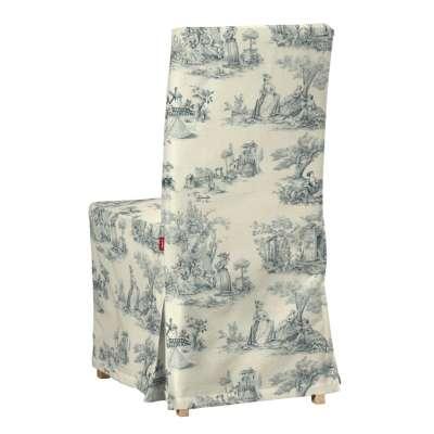 Henriksdal, lang trekk 132-66 Blå print, creme bakgrunn Kolleksjon Avinon