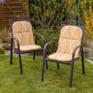 Materac ogrodowy 94x40x3,5cm, beżowo-żółte wzory 94x40x3,5cm