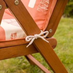 Materac ogrodowy 120x50x6cm, zgaszony pomarańcz 120x50x6cm