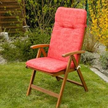 Materac ogrodowy 120x50x6cm, zgaszona czerwień