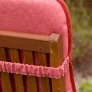 Materac ogrodowy 120x50x6cm, zgaszona czerwień 120x50x6cm