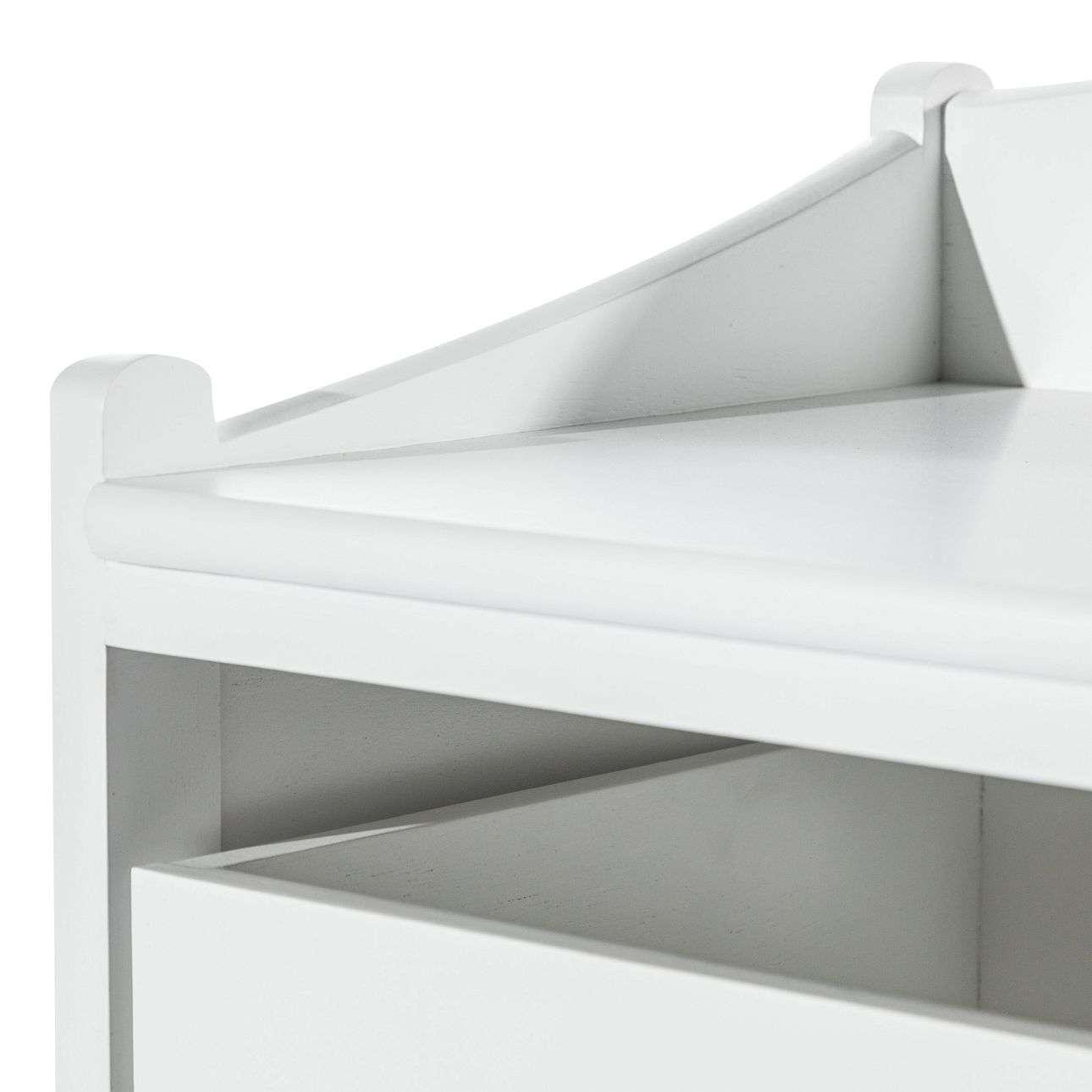 Garderobenbank Mary white 87x46x57cm
