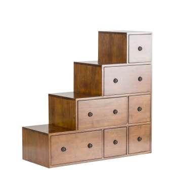 Regał Zen brown, 7szuflad 88x35x88cm 88x35x88cm