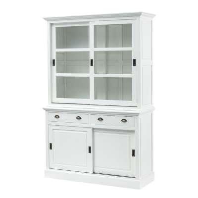 Buffetkast New England white 143x52x215cm