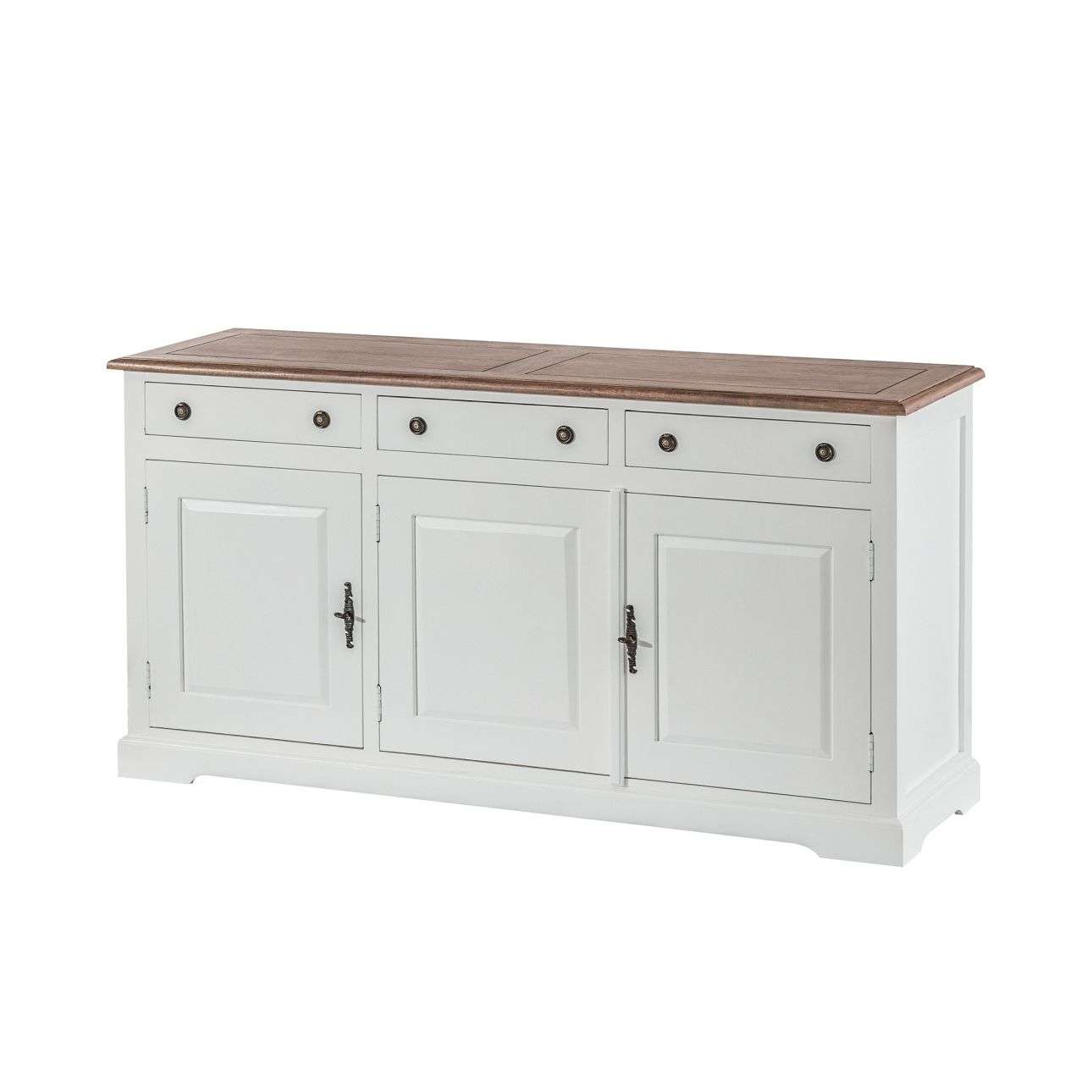 Dressoir Aston white & natural 155x45x80cm