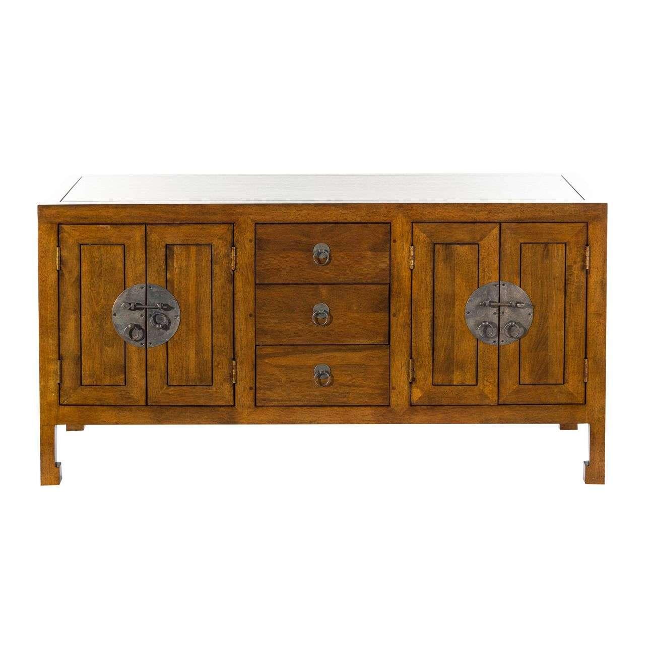 Komoda Ibuku 3szuflady + 4 drzwi, brown 126x55x65cm 126x55x65cm